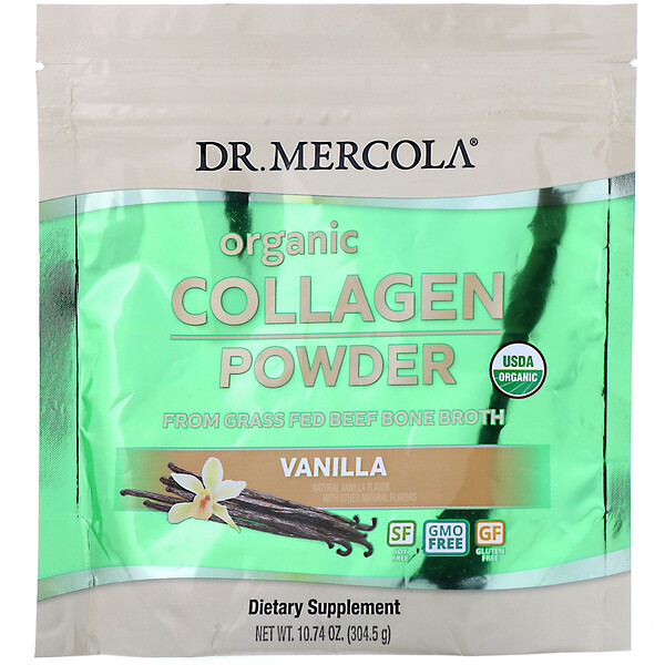 Dr. Mercola, Organic Collagen Powder, Vanilla,  10.74 oz (304.5 g)