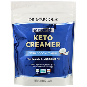 Dr. Mercola, Mitomix, Keto Creamer with Coconut Milk, 10.58 oz (300 g)