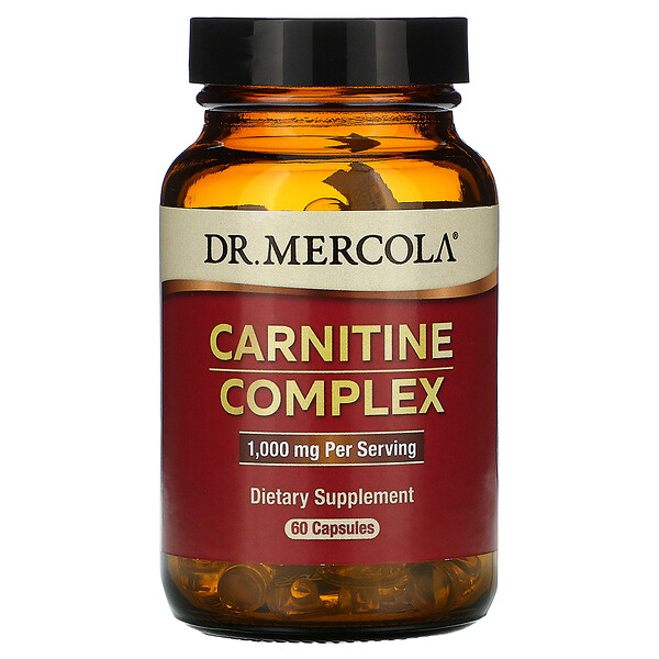 Dr. Mercola, Carnitine Complex, 1,000 mg, 60 Capsules