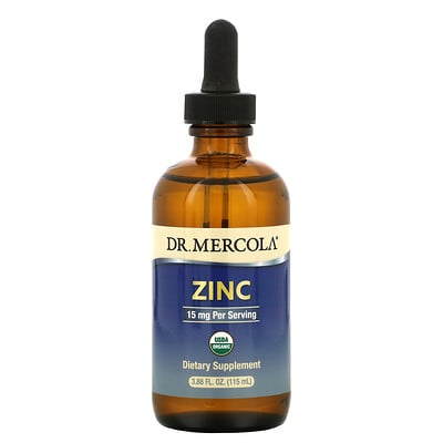 Купить Dr. Mercola Zinc, 15 mg, 3.88 fl oz (115 ml)