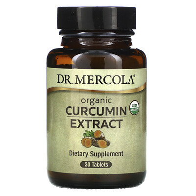 Dr. Mercola Organic Curcumin Extract, 30 Tablets