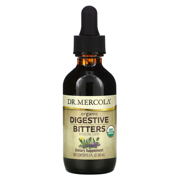 Dr. Mercola, Organic Digestive Bitters with Natural Flavors, 2 fl oz (60 ml)
