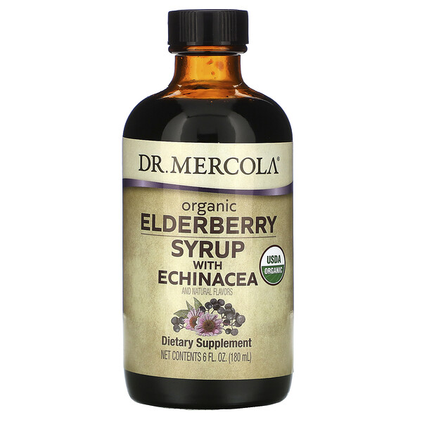 Organic Elderberry Syrup with Echinacea,  6 fl oz (180 ml)