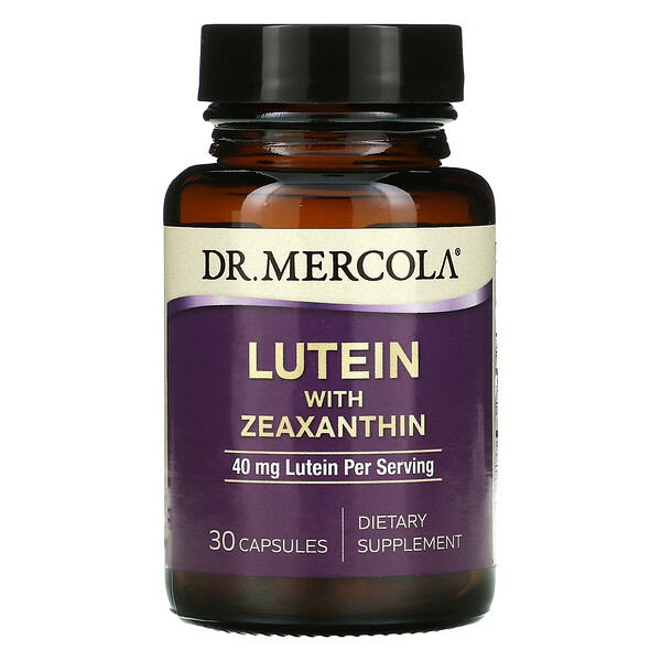 Dr. Mercola, Lutein with Zeaxanthin, 40 mg, 30 Capsules