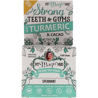 My Magic Mud, Polishing Tooth Powder with Turmeric & Cacao, Spearmint, 1.41 oz (40 g)