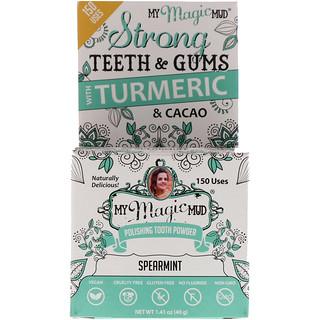 My Magic Mud, Polishing Tooth Powder with Tumeric & Cacao, Spearmint, 1.41 oz (40 g)