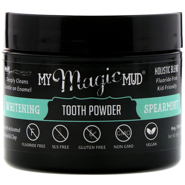 My Magic Mud, Whitening Tooth Powder, Spearmint, 1.06 oz (30 g) (Discontinued Item)