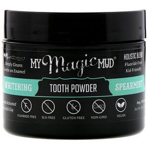 Май Мэджик Мад, Whitening Tooth Powder, Spearmint, 1.06 oz (30 g) отзывы