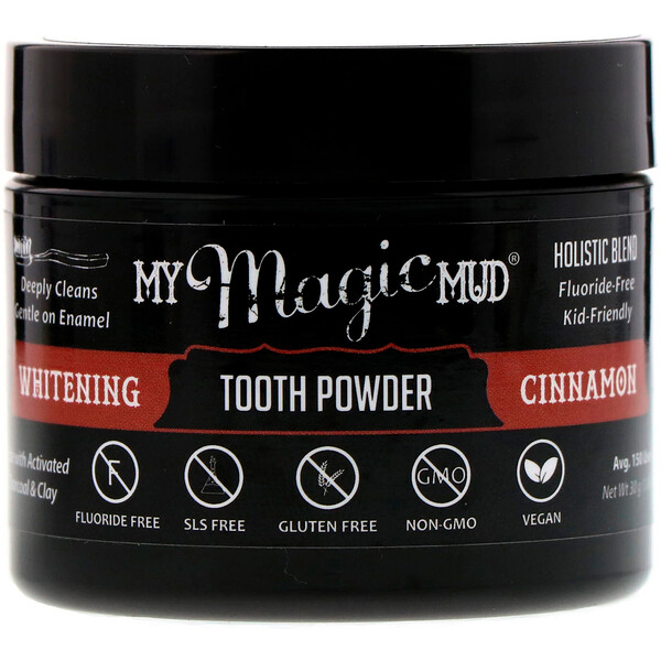 My Magic Mud, Whitening Tooth Powder, Cinnamon, 1.06 oz (30 g) (Discontinued Item)