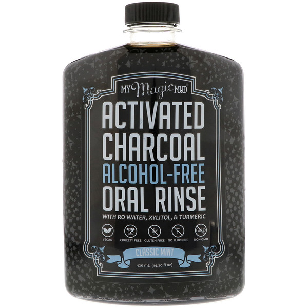 Activated Charcoal, Alcohol-Free Oral Rinse, Classic Mint, 14.20 fl oz (420 ml)