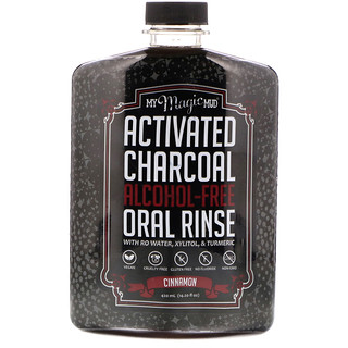 My Magic Mud, Activated Charcoal, Alcohol-Free Oral Rinse, Cinnamon, 14.20 fl oz (420 ml)