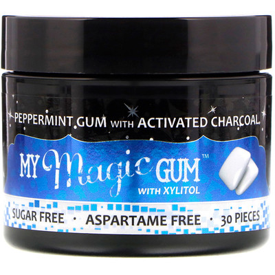 My Magic Mud My Magic Gum with Xylitol and Activated Charcoal, Peppermint, 30 Pieces