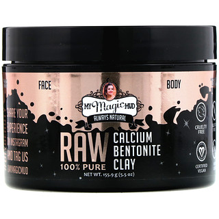 My Magic Mud, Raw 100% Pure, Calcium Bentonite Clay, 5.5 oz (155.9 g)