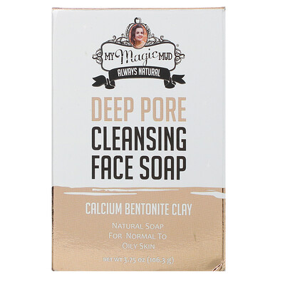 Купить My Magic Mud Deep Pore Cleansing Face Soap, Calcium Bentonite Clay, 3.75 oz (106.3 g)
