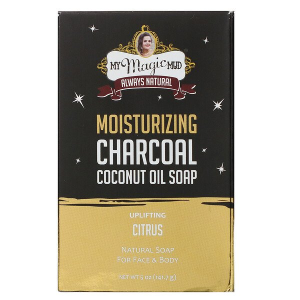 Moisturizing Charcoal, Coconut Oil Soap, Uplifting Citrus, 5 oz (141.7 g)