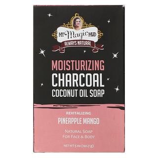 My Magic Mud, Moisturizing Charcoal, Coconut Oil Soap, Revitalizing Pineapple Mango,  5 oz (141.7 g)