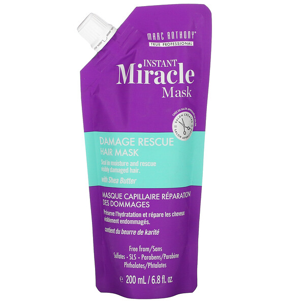 Instant Miracle Mask, Damage Rescue Hair Mask, 6.8 fl oz (200 ml)