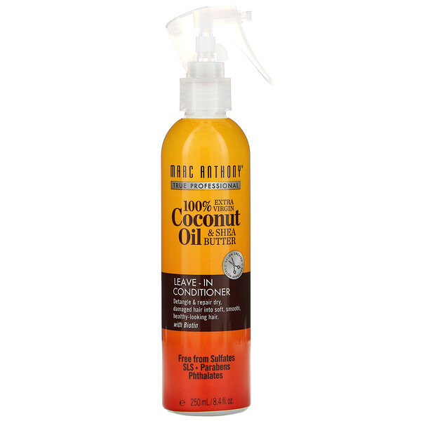 100% Extra Virgin Coconut Oil & Shea Butter, Leave-In Conditioner, 8.4 fl oz (250 ml)