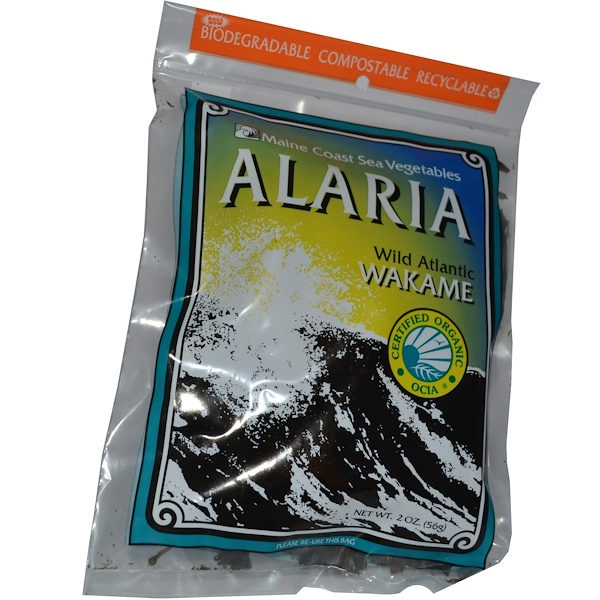 Maine Coast Sea Vegetables, Alaria, Wild Atlantic Wakame, 2 oz (56 g)