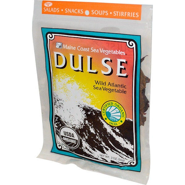 Maine Coast Sea Vegetables, Dulse, Wild Atlantic Sea Vegetable, 2 oz (56 g)