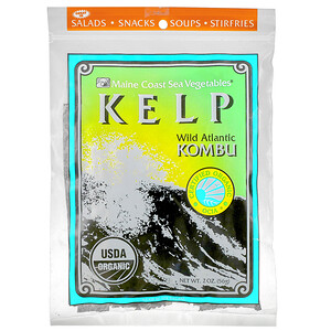 Мэйн Коаст Си Веджитаблс, Kelp, Wild Atlantic Kombu, 2 oz (56 g) отзывы покупателей