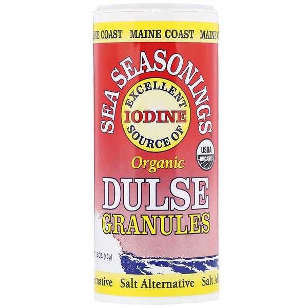 Maine Coast Sea Vegetables, Organic, Sea Seasonings, Dulse Granules, 1.5 oz (43 g)