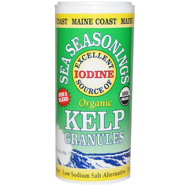 Maine Coast Sea Vegetables, Sea Seasonings, Gránulos de Kelp Orgánico, 1.5 oz (43 g)