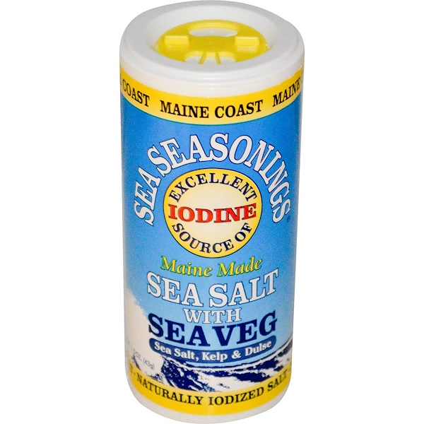 Maine Coast Sea Vegetables, Sea Seasonings, Sea Salt with Sea Veg, 1.5 oz (43 g) (Discontinued Item)