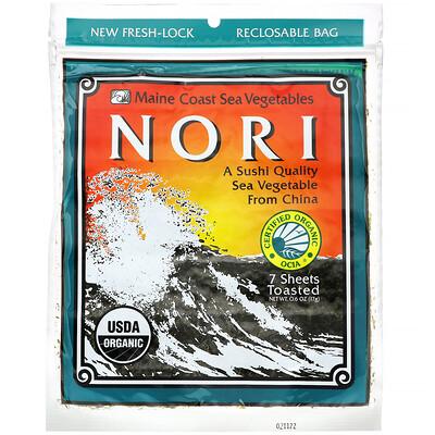 Купить Maine Coast Sea Vegetables Нори, 7листов, 17г (6унций)