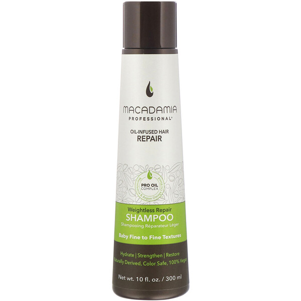 Macadamia Professional, Weightless Repair Shampoo, Baby Fine to Fine Textures, 10 fl oz (300 ml)