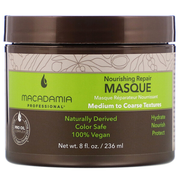 Macadamia Professional, Nourishing Repair Masque, Medium to Coarse Textures,  8 fl oz (236 ml)