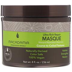Macadamia Professional, 超濃密修復面膜,粗糙至捲曲質地,8 液量盎司(236 毫升)