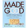 MadeGood, Organic, Crispy Squares, Vanilla, 6 Bars, 0.78 oz (22 g) Each