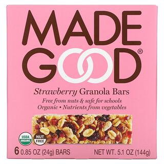 MadeGood, Granola Bar, Strawberry, 6 Bars, 0.85 oz (24 g) Each