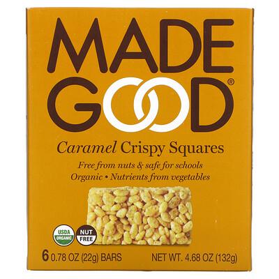 Купить MadeGood Crispy Squares, Caramel, 6 Bars, 0.78 oz (22 g) Each
