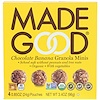MadeGood, Organic, Granola Minis, Chocolate Banana, 4 Pouches, 0.85 oz (24 g) Each