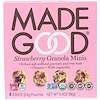 MadeGood, Organic, Granola Minis, Strawberry, 4 Pouches, 0.85 oz (24 g) Each