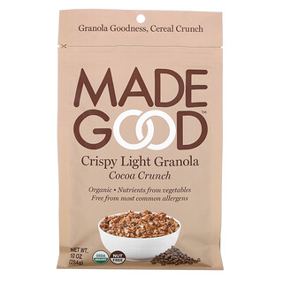 MadeGood, Crispy Light Granola, Cocoa Crunch, 10 oz (284 g)