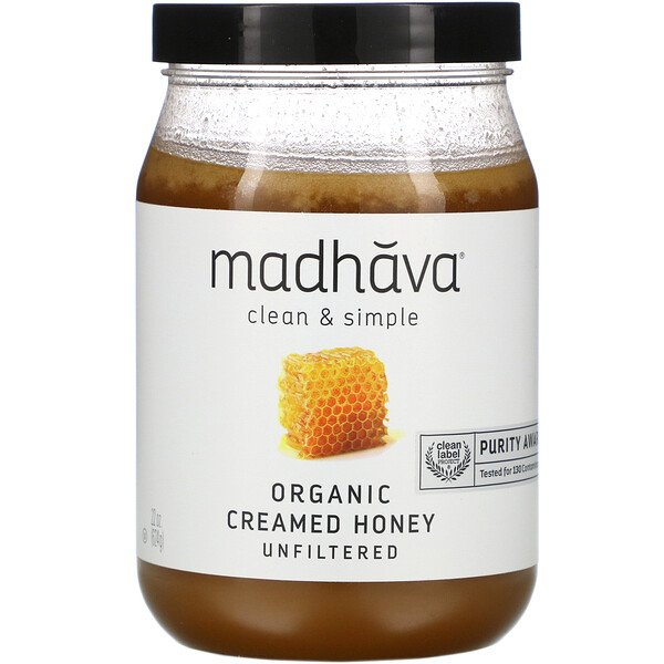 Clean & Simple, Organic Creamed Honey, Unfiltered, 22 oz (624 g)
