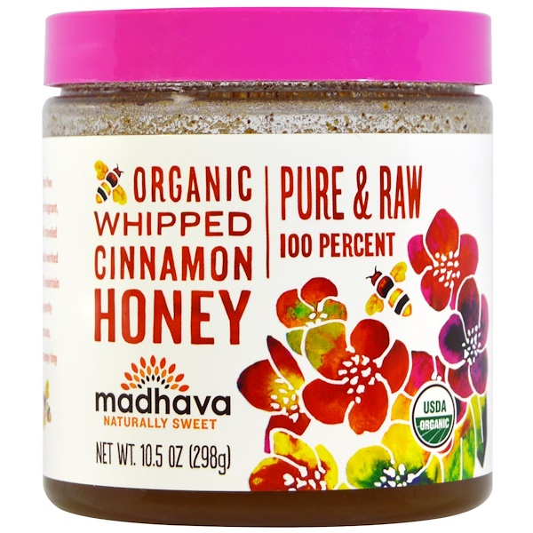 Madhava Natural Sweeteners, Organic Whipped Cinnamon Honey, 10.5 oz (298 g)