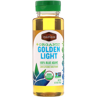 Madhava Natural Sweeteners, Organic Golden Light 100% Blue Agave, 11.75 oz (333 g)
