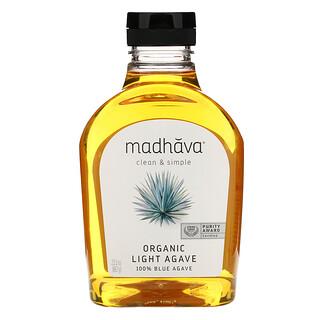 Madhava Natural Sweeteners, Organic Golden Light Blue Agave, 23.5 oz (667 g)