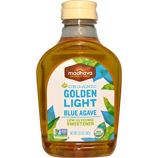 Madhava Natural Sweeteners, Organic Golden Light Blue Agave、23.5 oz (667 g)