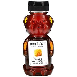 Мэдхауа Нэчурал Суитнэрс, Organic Amber Honey, 12 oz (340 g) отзывы