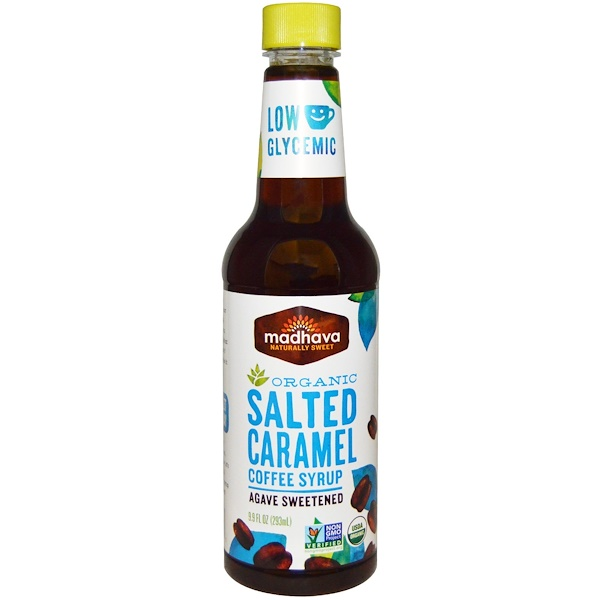 Madhava Natural Sweeteners, Organic Salted Caramel Coffee Syrup, 9.9 fl oz (293 ml) (Discontinued Item)