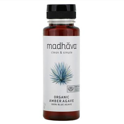 Купить Madhava Natural Sweeteners Органический янтарный сироп из сырой голубой агавы, 11, 75 унций (333 г)