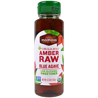 Madhava Natural Sweeteners, Organic Amber Raw Blue Agave, 11.75 oz (333 g)
