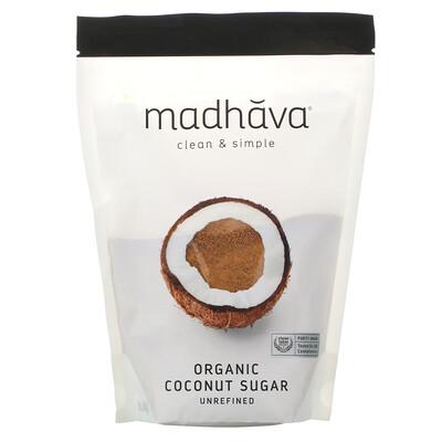 Купить Madhava Natural Sweeteners Натуральный кокосовый сахар, 1 фунт (454 г)