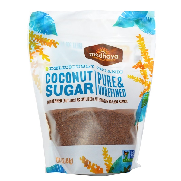 Madhava Natural Sweeteners, Deliciously Organic Coconut Sugar, 1 lb (454 g)
