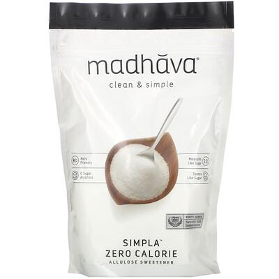 Купить Madhava Natural Sweeteners Clean & Simple, Simpla Zero Calorie, Allulose Sweetener, 12 oz (340 g)